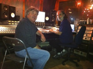 Steve Holley and Mark Dann in the studio